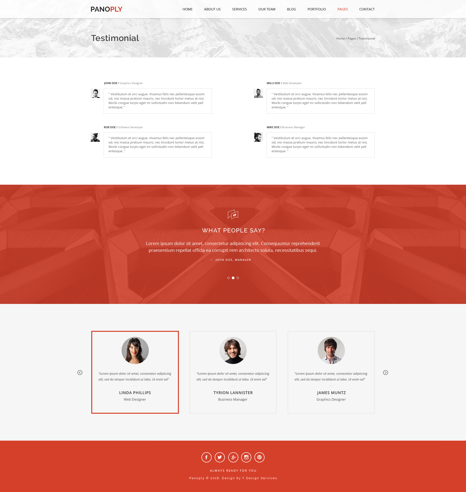 panoply creative one page multipurpose psd template by