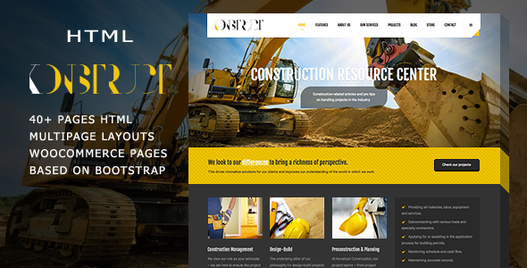 Konstruct – Html Construction, Building And Business template