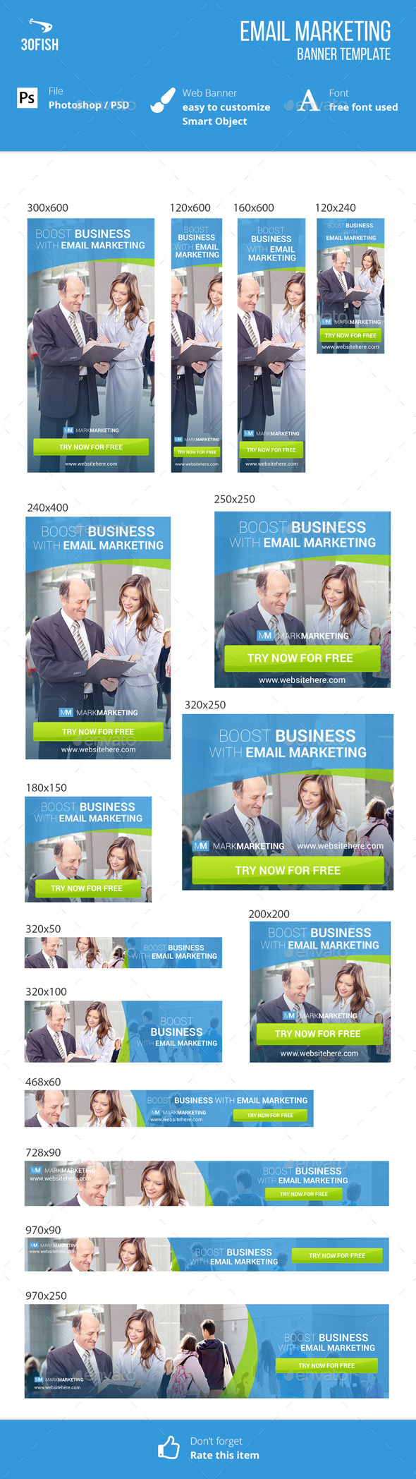 Email Marketing Ads Banner - Banners & Ads Web Elements