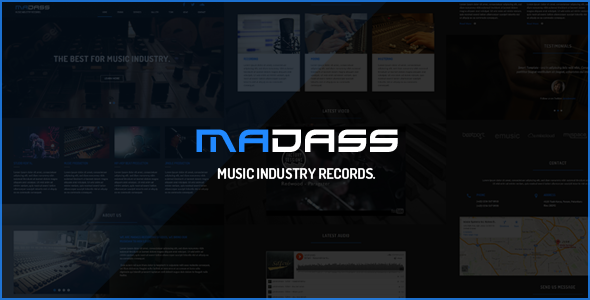 Madass – Music Industry HTML Template
