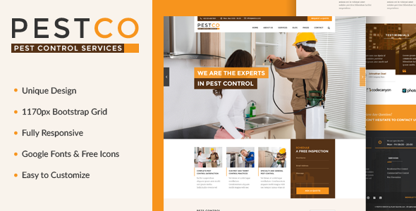 Pestco – Pest Control Template