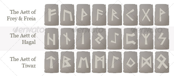 Runes Set from Norse Mythology - Miscellaneous Graphics