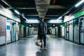 Young handsome afro black man in a underground station - PhotoDune Item for Sale