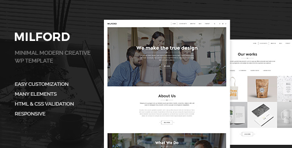 Milford Agency – Minimal, Clean & Creative  WP Corporate Business Theme