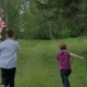 Back View Children Running With The US Flag - VideoHive Item for Sale