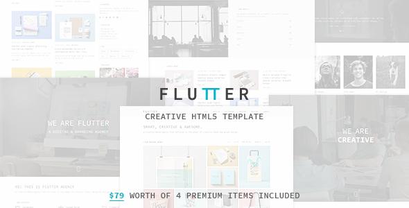 Flutter – Responsive Creative HTML5 Template