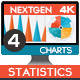 4K NextGen Resizable Statistics Charts & Infographics Pack Four - VideoHive Item for Sale