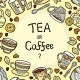 Card With Doodle Tea Accessories And Text. - GraphicRiver Item for Sale