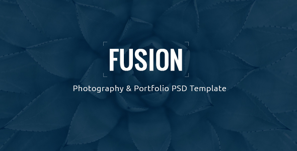 Fusion - Photography & Portfolio PSD Template