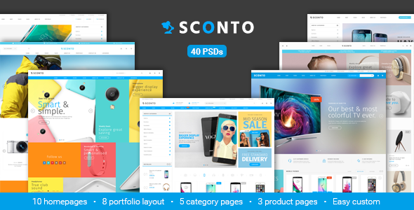 Sconto - Responsive eCommerce PSD Template - Retail PSD Templates