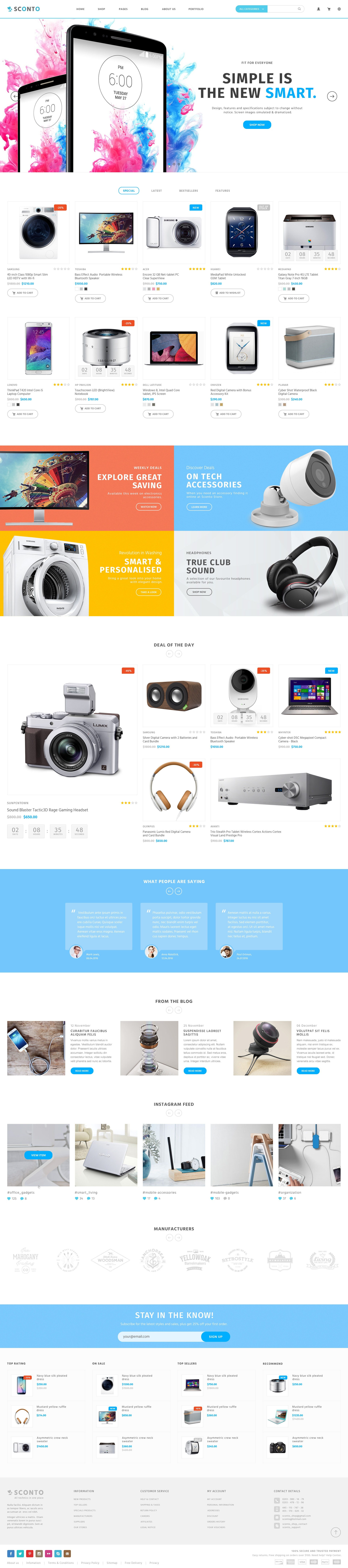 396cccafce1 Sconto - Responsive eCommerce PSD Template by MarekMnishek