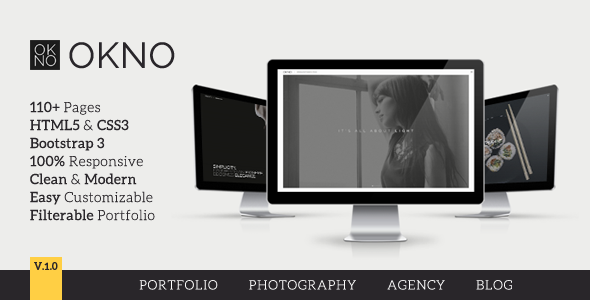 OKNO: Responsive Multipurpose HTML5 Template