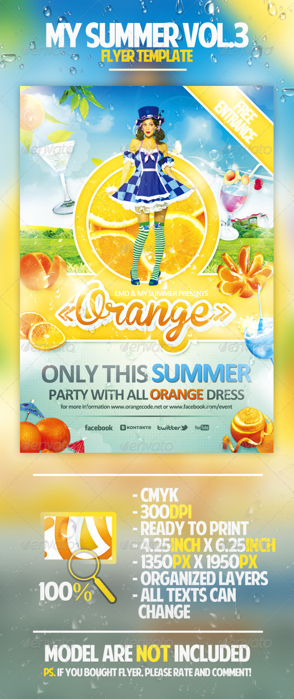 My Summer Vol.3 Flyer Template - Clubs & Parties Events