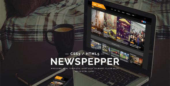 NewsPepper - News/Magazine HTML5 Template
