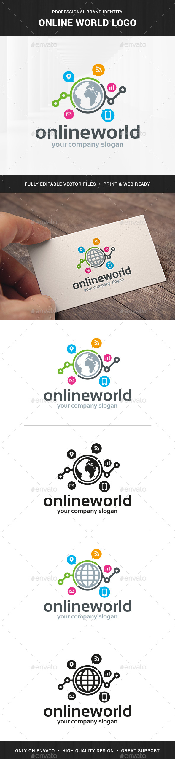 Online World Logo Template - Symbols Logo Templates