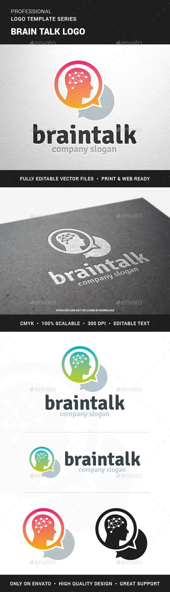 Brain Talk Logo Template - Humans Logo Templates