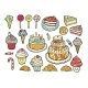 Set of Colorful Sweets - GraphicRiver Item for Sale