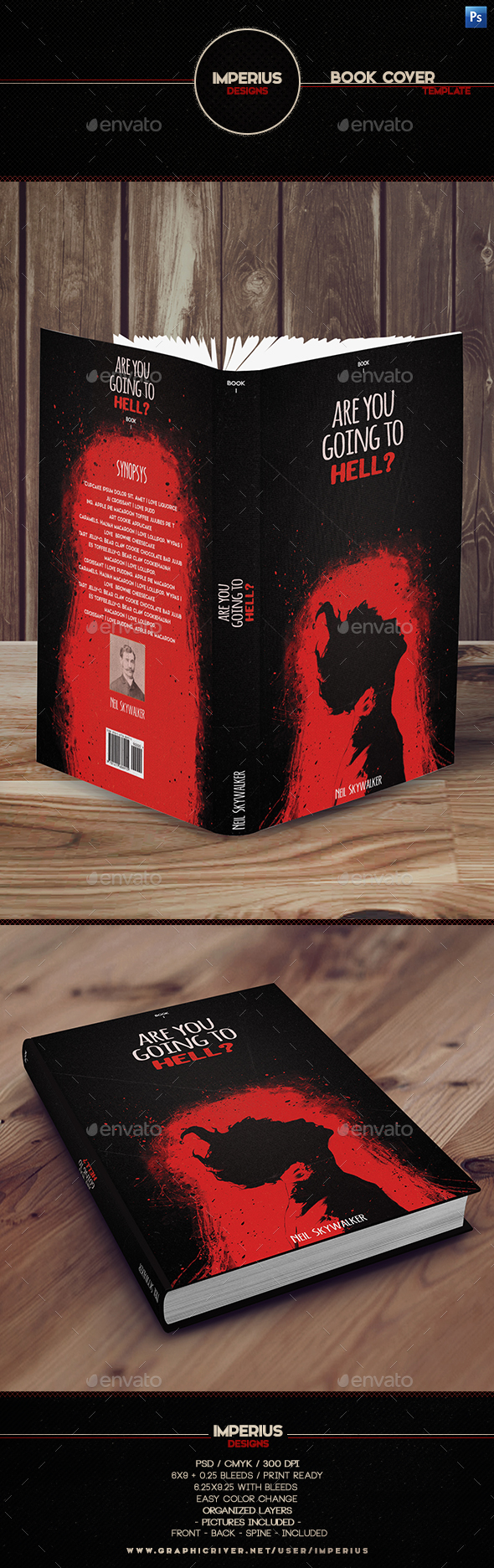 Are you going to Hell? Book Cover - Miscellaneous Print Templates
