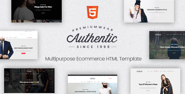 Authentic – Multipurpose Ecommerce HTML Template