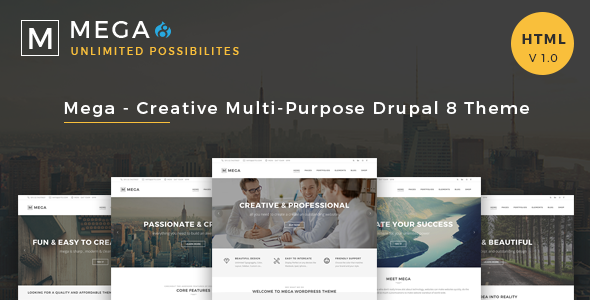 Mega - Creative Multi-Purpose Drupal8 Theme