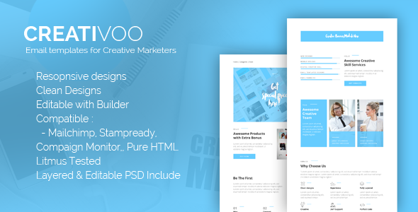 Creativoo - Creative Business Email Template