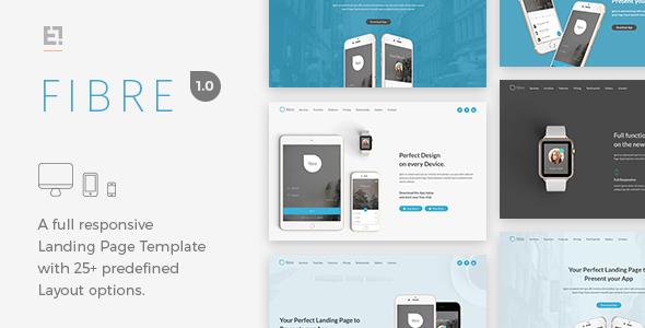 Fibre - Responsive App Landing Page