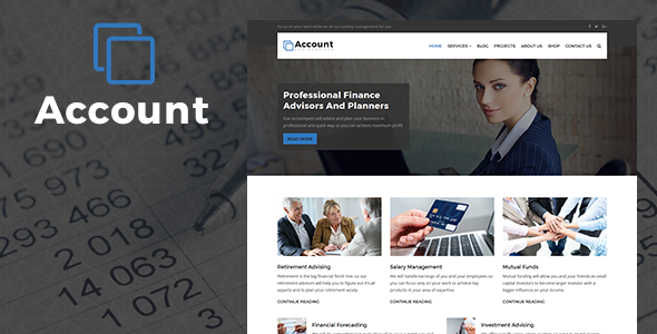 Account – Accountant And Finance Business WP Theme