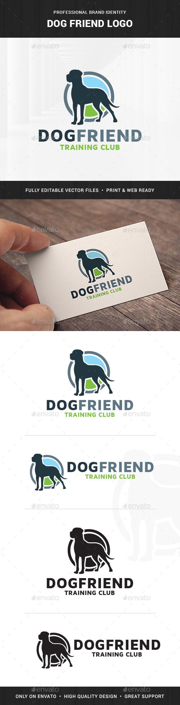 Dog Friend Logo Template - Animals Logo Templates