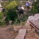 Mountain Bikers Jumping in Boardwalk Park - VideoHive Item for Sale