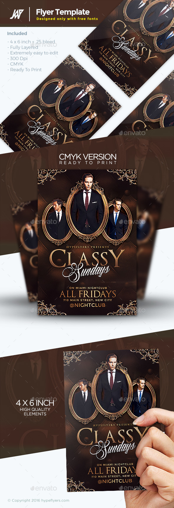 Classy Sundays Flyer Template - Clubs & Parties Events