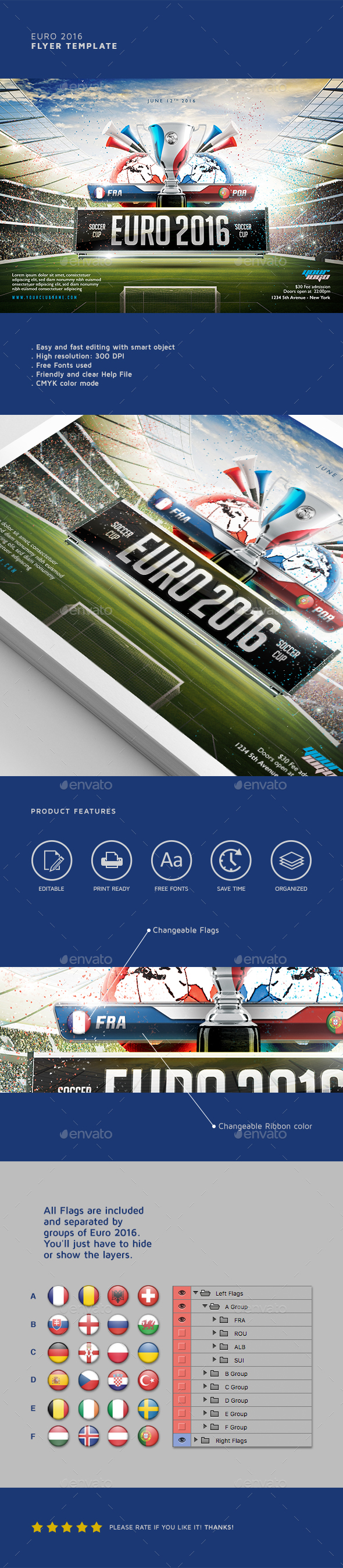 Euro 2016 Flyer Template - Sports Events