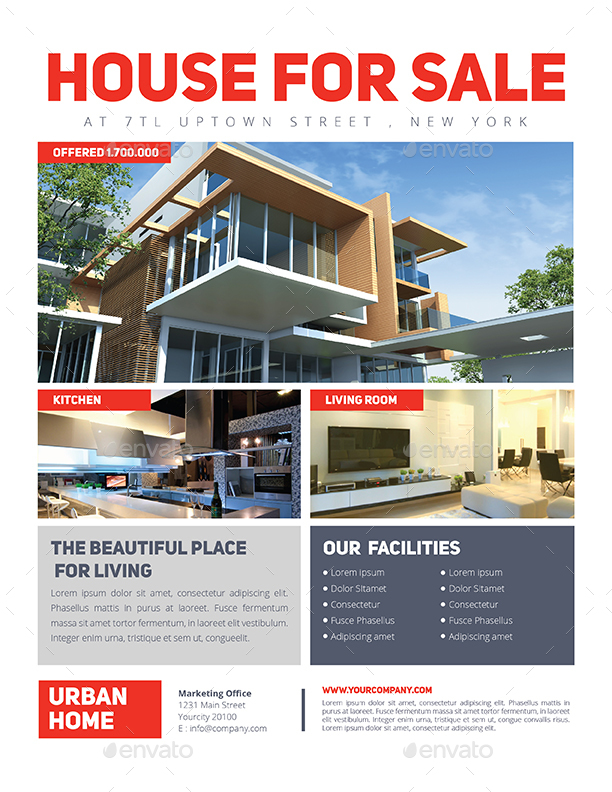 Simple Real Estate Flyer by Guuver | GraphicRiver