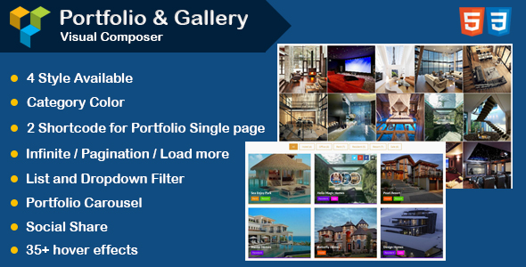 Visual Composer - Portfolio and Gallery with Carousel - CodeCanyon Item for Sale
