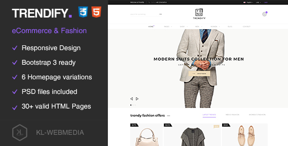 Trendify - Fashion eCommerce HTML5 Template - Fashion Retail