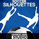 8 Soccer (Football) Silhouettes Slow Motion  - VideoHive Item for Sale