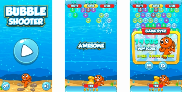 Bubble Shooter - HTML5 Game + Android + AdMob (Construct 3 | Construct 2 | Capx) - CodeCanyon Item for Sale