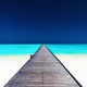Wooden long jetty over lagoon with amazing clean water - PhotoDune Item for Sale