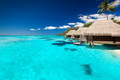 Villas on the tropical beach with steps into water - PhotoDune Item for Sale