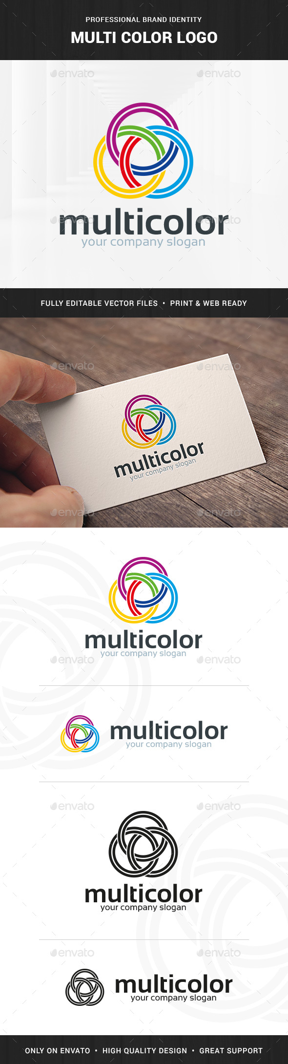 Multi Color Logo Template - Abstract Logo Templates