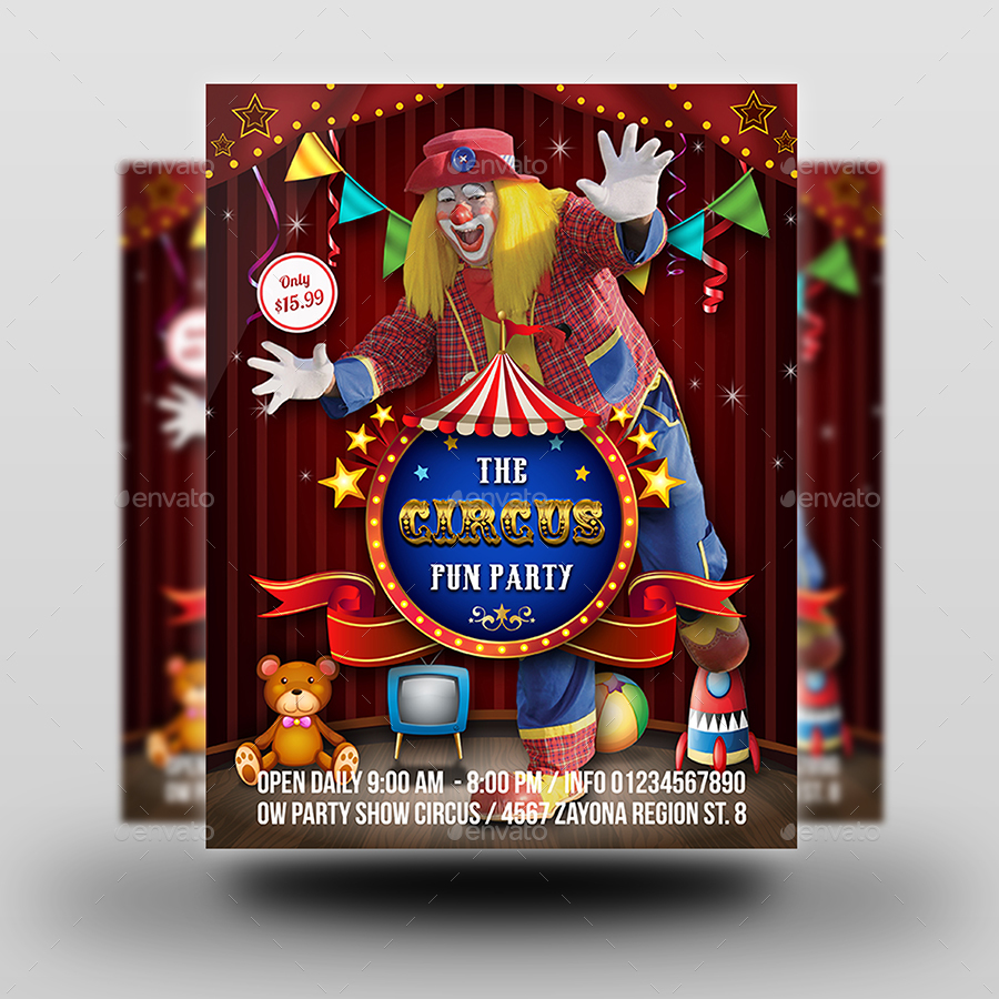 Circus Flyer Template By Owpictures Graphicriver
