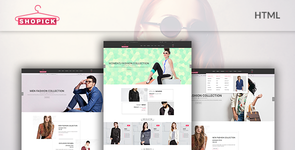 Shopick - eCommerce Responsive Bootstrap Template  - Fashion Retail