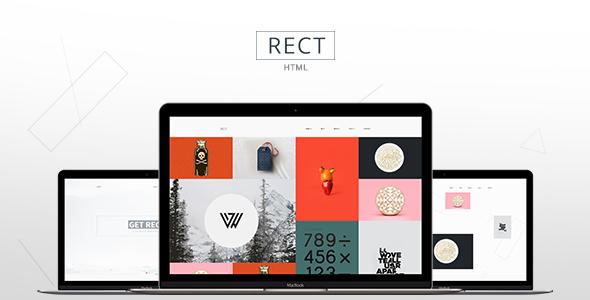 RECT – Minimal Portfolio Bootstrap Theme