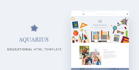 Extraordinary Aquarius - Educational University HTML Template