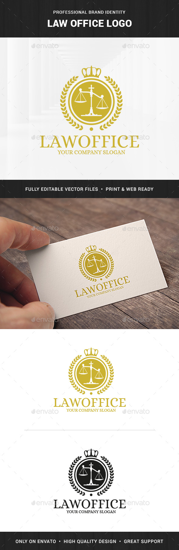Law Office Logo Template v2 - Crests Logo Templates