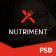 Nutriment - Restaurant / Cafe / Food Bootstrap PSD Template - ThemeForest Item for Sale