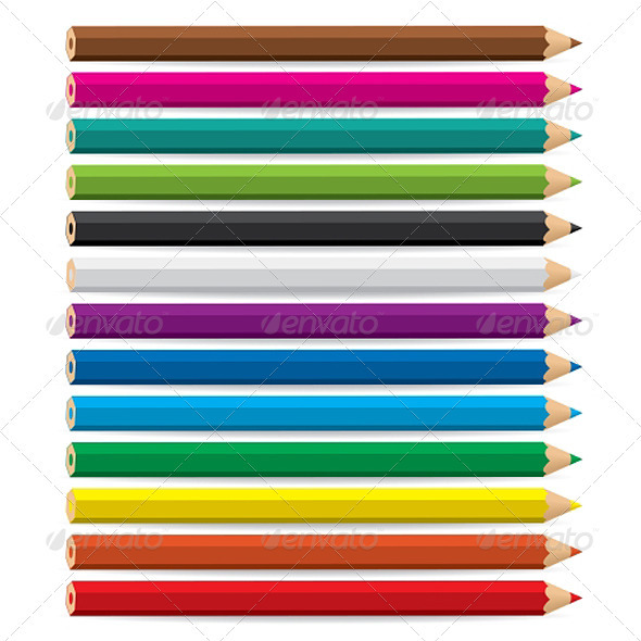 Color pencils - Man-made Objects Objects