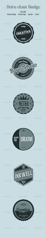 Retro Clean Badge - Badges & Stickers Web Elements