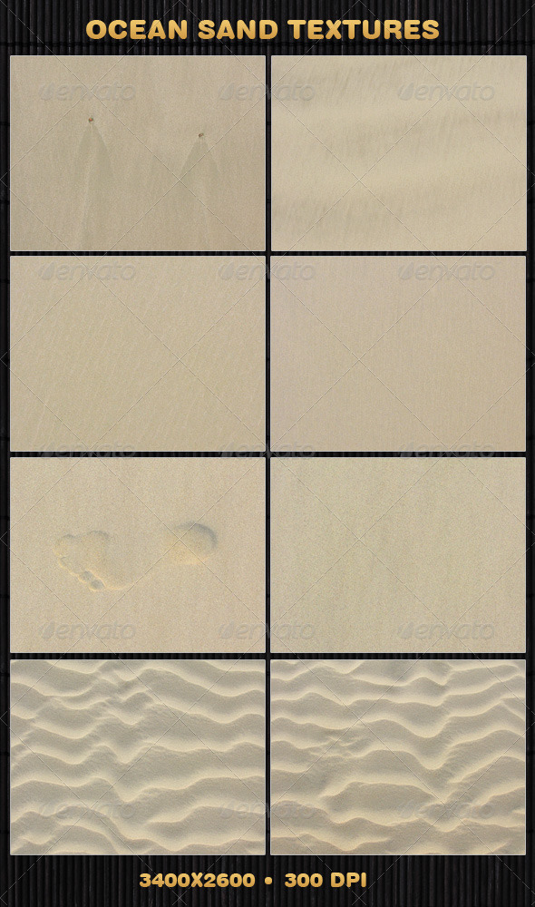 8 Ocean Sand Textures - Nature Textures