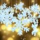 Christmas Snowflake On Golden Particle Background - VideoHive Item for Sale