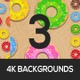 Rain Of Donuts Backgrounds - VideoHive Item for Sale